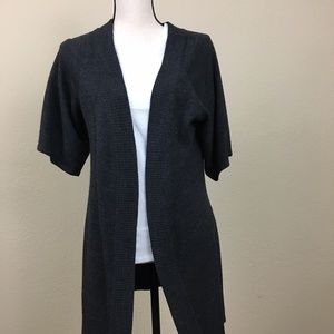 AGB Grey Open Cardigan Short Sleeve XL